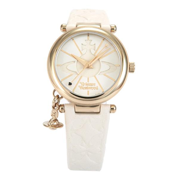 ヴィヴィアンウエストウッド Vivienne Westwood 腕時計 ORB 白皮 WH レディス VV006WHWH プレゼント ギフト レディース 時計 ホワイト 送料無料