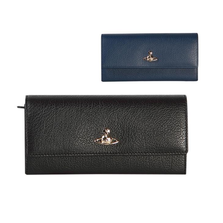 ヴィヴィアンウエストウッド 財布 Vivienne Westwood レザー 51060022 BLACK BALMORAL 長財布 ブラック