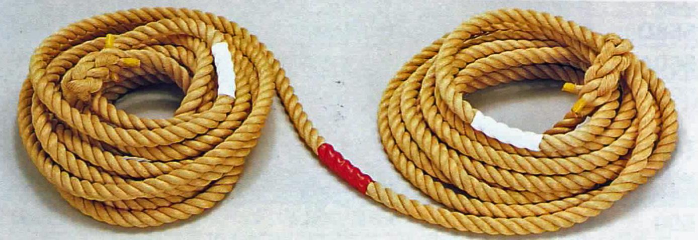 競技用綱引きロープ(マニラ麻) 36ミリ×36M