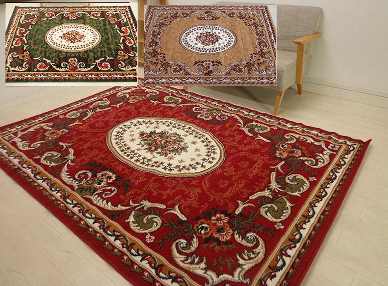 _ シラズ ラグ 240cm×240cm 4.5畳サイズ (全厚10mm)ウィルトン織 床暖対応 ホットカーペット対応 遊び毛出にくい 正方形