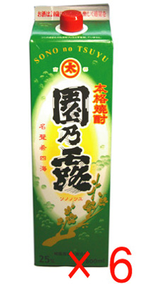 園乃露 芋焼酎25度 1.8Lパック 6本入