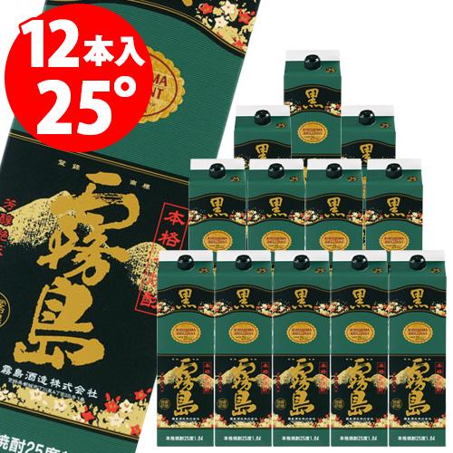 チューパック黒霧島パック 25度 1.8L×12本 芋焼酎<送料無料対象外品><12本毎に1送料>