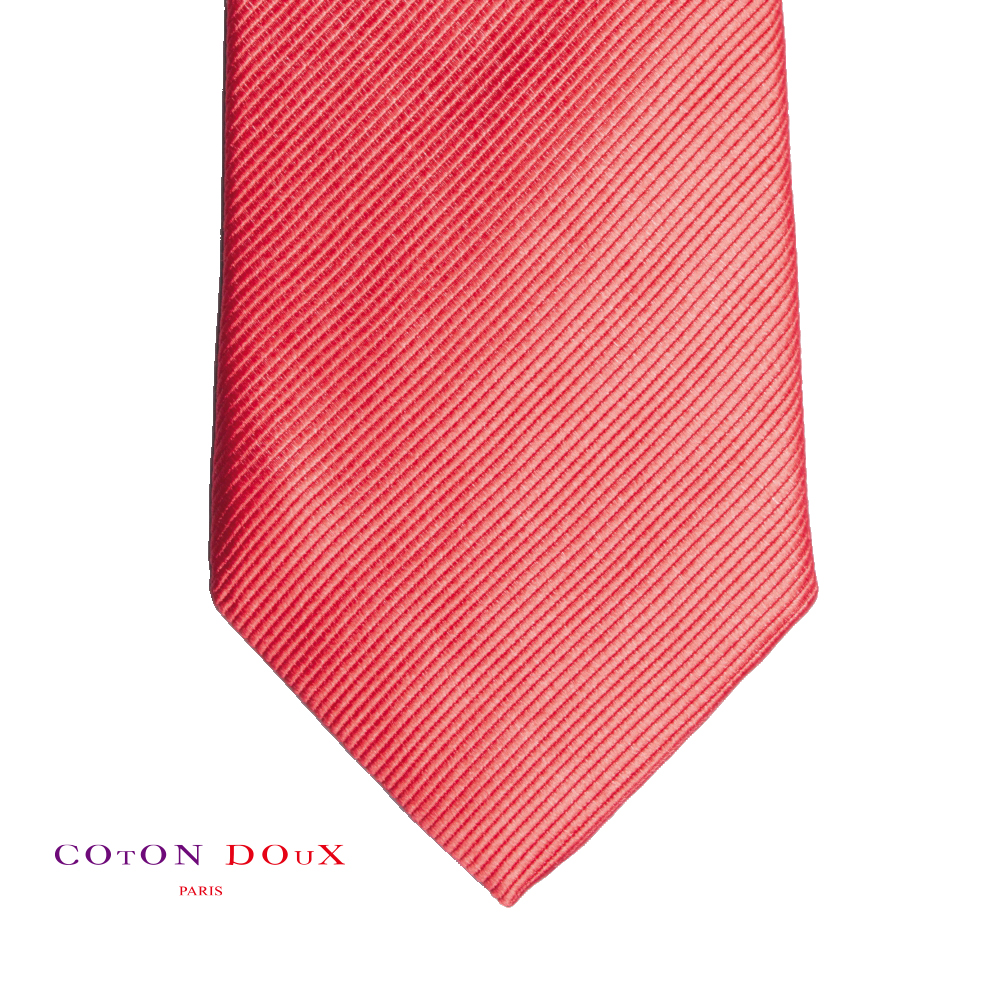 CotonDoux (コトンドゥ) ネクタイ t71010 パリの色使い 可愛い お洒落 イタリア フランス 彼氏 男性 プレゼント 誕生日 ギフト リクルート