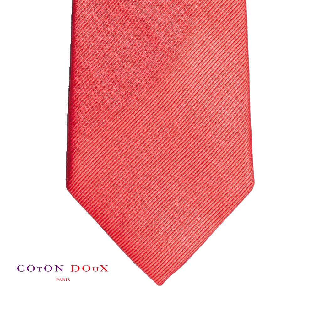 CotonDoux (コトンドゥ) ネクタイ t71014 パリの色使い 可愛い お洒落 イタリア フランス 彼氏 男性 プレゼント 誕生日 ギフト リクルート