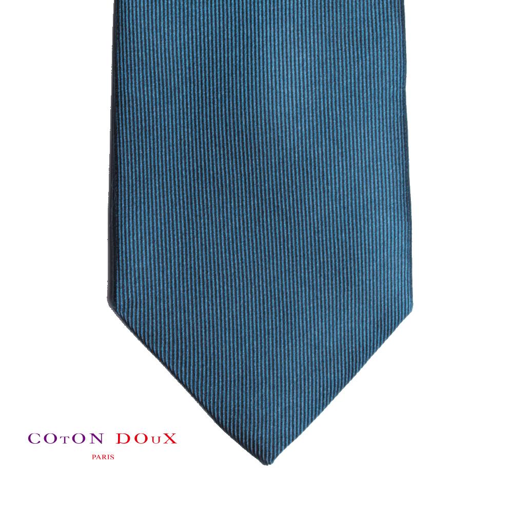 CotonDoux (コトンドゥ) ネクタイ t71031 パリの色使い 可愛い お洒落 イタリア フランス 彼氏 男性 プレゼント 誕生日 ギフト リクルート