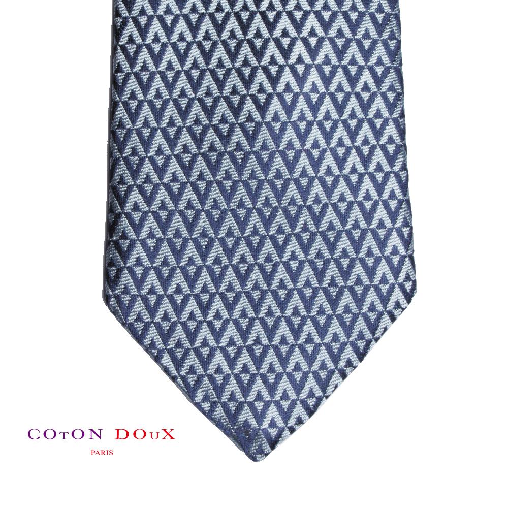 CotonDoux (コトンドゥ) ネクタイ t71072 パリの色使い 可愛い お洒落 イタリア フランス 彼氏 男性 プレゼント 誕生日 ギフト リクルート