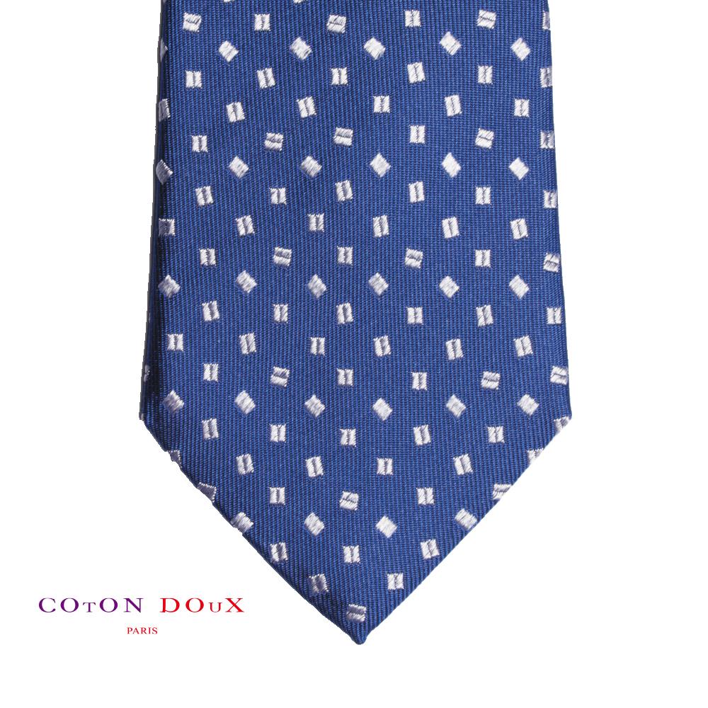 CotonDoux (コトンドゥ) ネクタイ t71077 パリの色使い 可愛い お洒落 イタリア フランス 彼氏 男性 プレゼント 誕生日 ギフト リクルート