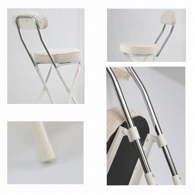 PFC-40F シリンダー式 フォールディングハイチェア(折りたたみ おしゃれ カウンターチェア 折りたたみ ハイチェア チェア 椅子 イス パイプ椅子 折りたたみチェア いす 折り畳み コンパクト チェアー ハイチェアー カウンターチェアー バーチェア バーチェアー)