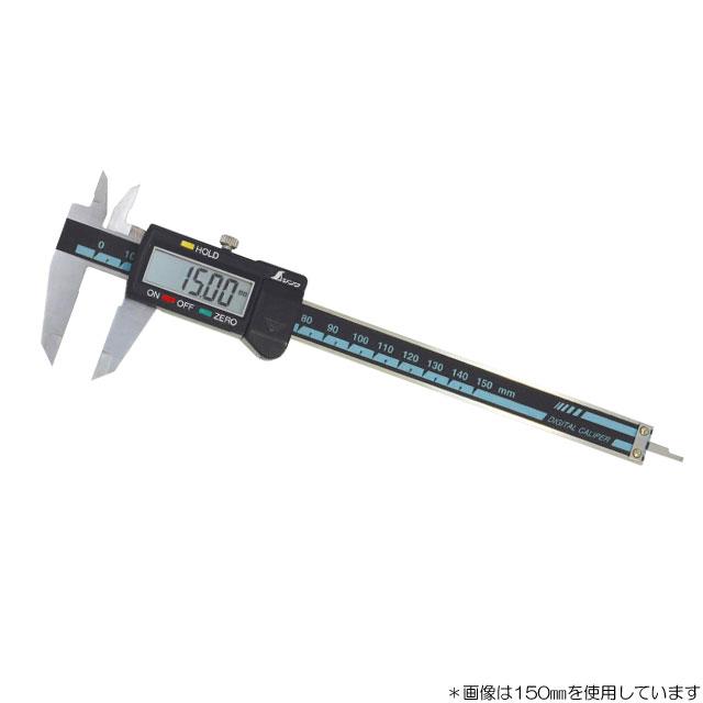 シンワ測定 デジタルノギス300mm 19977 大文字ホールド機能付き