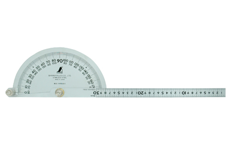 'シンワ測定 プロトラクターNo300シルバーΦ210 竿目盛30cm 62898