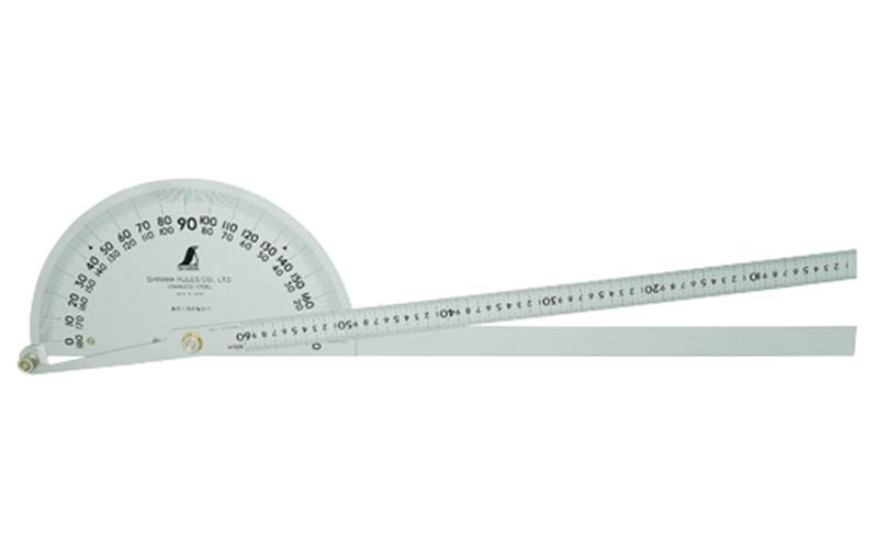 'シンワ測定 プロトラクターNo600シルバーΦ320竿目盛60cm 2本竿62944