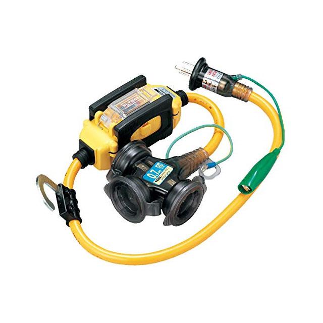 漏電遮断機付延長コード BFX-013KC(電工ドラム 延長コード 電源コード)(延長コード 電源コードリール 延長コードリール)