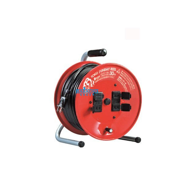 コードリール 温度センサー付き D-30S(電工ドラム 延長コード 電源コード)(延長コード 電源コードリール 延長コードリール)