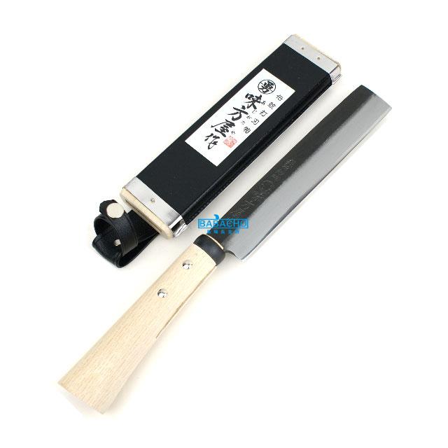 味方屋作 木サヤ付竹割鉈 180mm 両刃