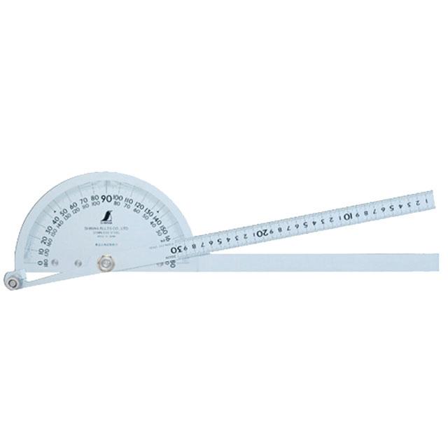 【送料無料】'【シンワ測定】プロトラクターNo300シルバーΦ210 竿目盛30cm 2本竿 62839