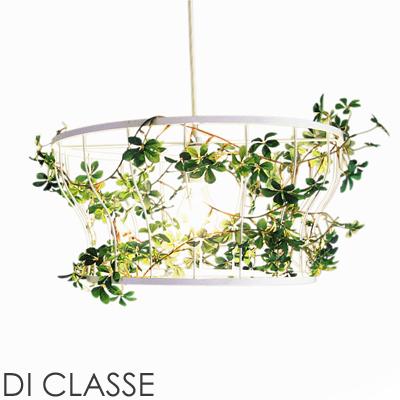 【送料無料】 フィッロ ペンダント ランプ Fillo ディクラッセ DI CLASSE 2325 照明 1灯 グリーン 造花 植物 鳥 自然