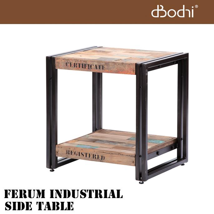 送料無料 テーブル フェルム インダストリアル サイドテーブル FERUM INDUSTRIAL SIDE TABLE 111001 ディーボディ d-Bodhi デスク 木製 チーク材 アイアン 男前インテリア 西海岸 収納