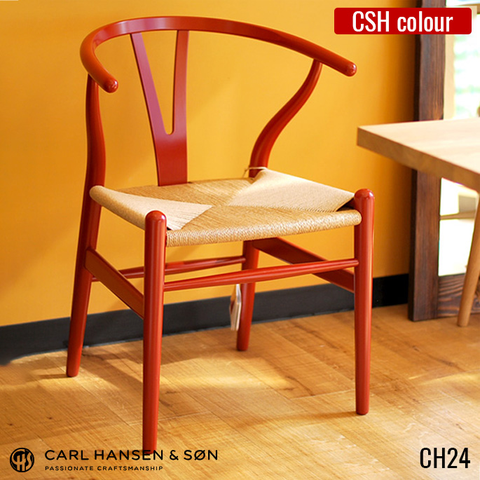 WISHBONE CHAIR CH24 (Wishbone Chair) YCHAIR (Y Chair) Beech Colour Paint  HANS J WEGNER (Hans J Wegner) CARL HANSEN U0026 SON (Carl Hansen U0026 Son)