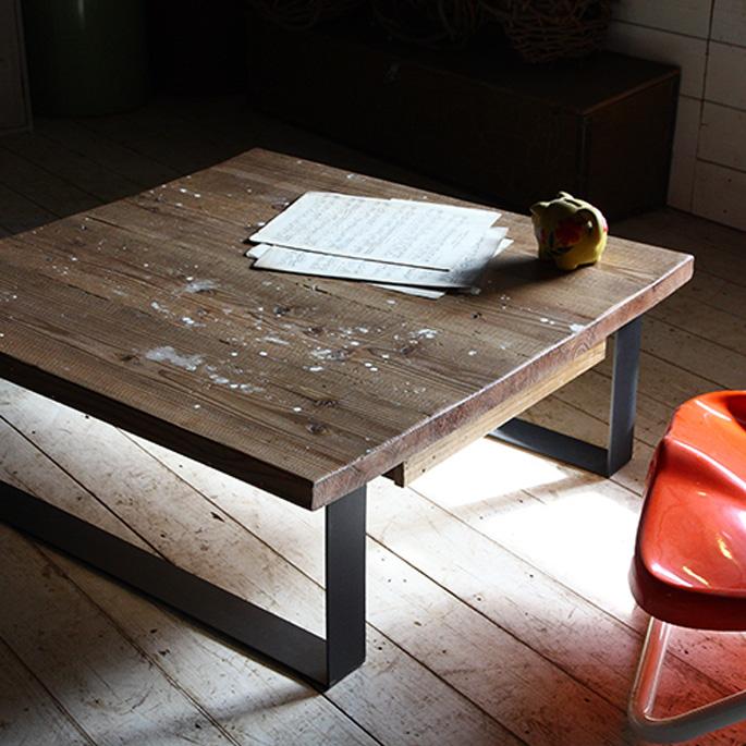 ikpリビングテーブル(LIVING TABLE) IKP(イカピー) 古材ローテーブル 送料無料 デザインインテリア