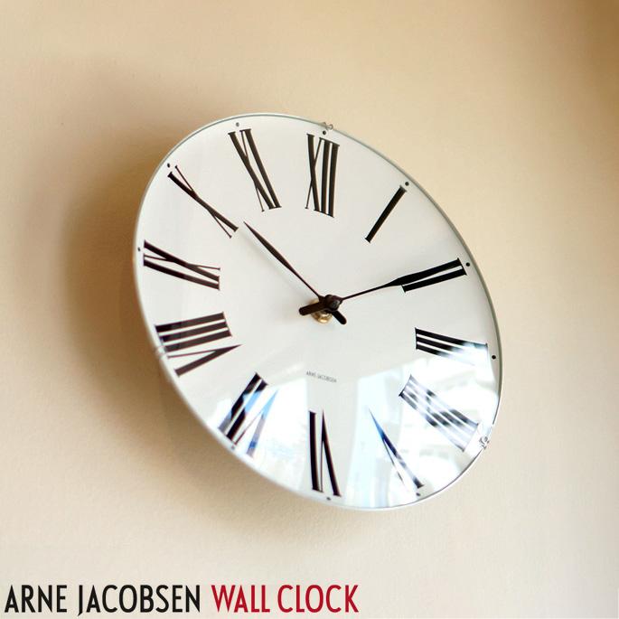 アルネヤコブセン ウォールクロック (ARNE JACOBSEN WallClock)ロマン(Roman)ROSENDAHL(ローゼンダール)全4サイズ 送料無料