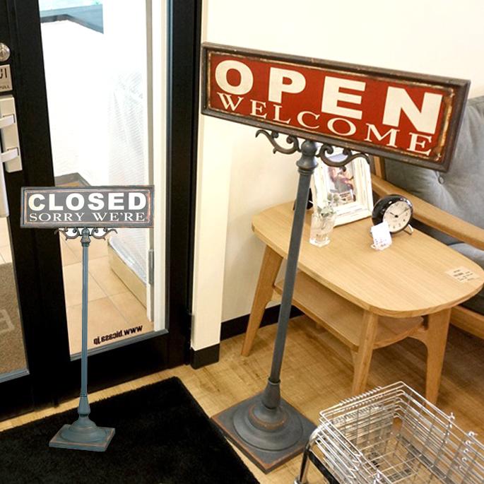 Open-closed sign stand(オープンクローズドサインスタンド) S355-83 DULTON(ダルトン)送料無料