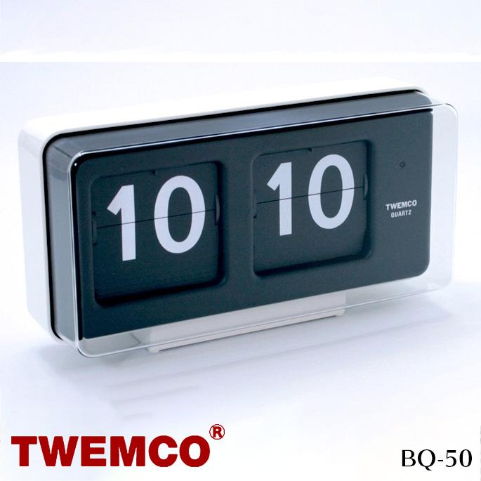 BQ-50 WALL&TABLE CLOCK(ウォール&テーブルクロック) パタパタクロック TWEMCO(トゥエンコ) カラー(ホワイト・ブラック) 送料無料