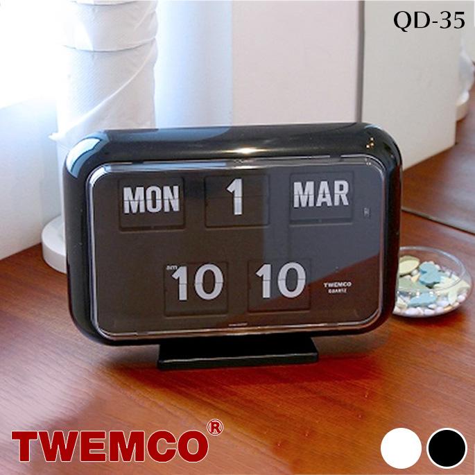 QD-35 WALL&TABLE CLOCK(ウォール&テーブルクロック) パタパタクロック TWEMCO(トゥエンコ) カラー(ホワイト・ブラック) 送料無料