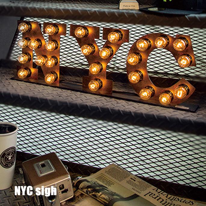 アートワークスタジオ ARTWORKSTUDIO サインランプ Sign Lamp NYC(サインランプ ニューヨークシティー) AW-0402V 送料無料