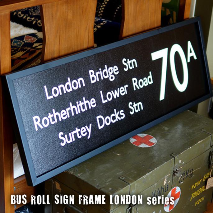 Bus Roll Sign LONDON SERIES FRAME(バスロールサイン ロンドンシリーズフレーム)JIG(ジェイアイジー) 全8タイプ