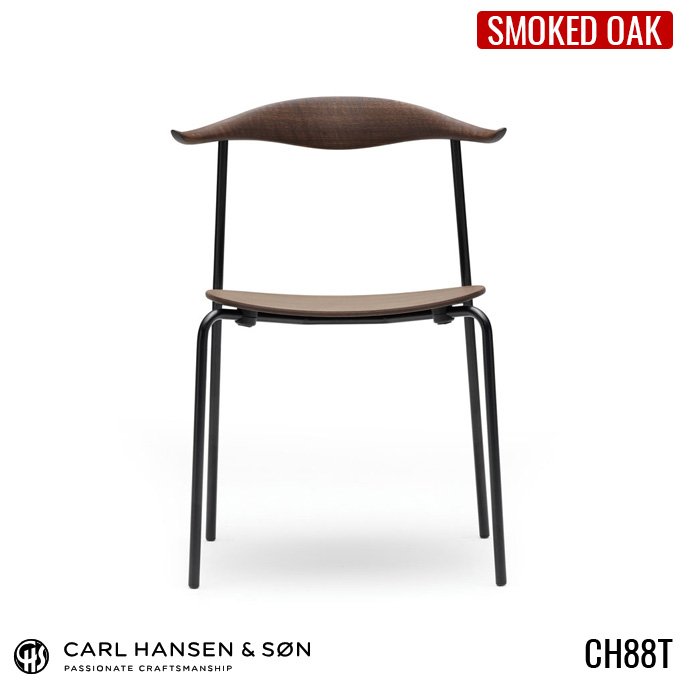 CH88T ダイニングチェア カールハンセン CARL HANSEN&SON ハンス・J・ウェグナー スモークドオーク デザイナーズチェア スタッキング オイル クローム ステンレス 北欧 正規品 椅子 木製 カフェ風 モダン 【送料無料】