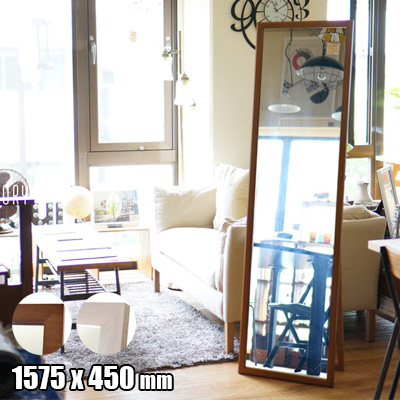 Standard Stand Mirror(スタンダードスタンドミラー) 1575×450 立掛け鏡 TBI-006・TBI007 全2色(BR・WH) 日本製