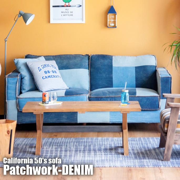 Charmant 50s Antique Jeans Motif! CALIFORNIA50u0027s SOFA Patchwork DENIM (CA 50u0027s Sofa  Patchwork Denim) BIMAKES (Vimax)