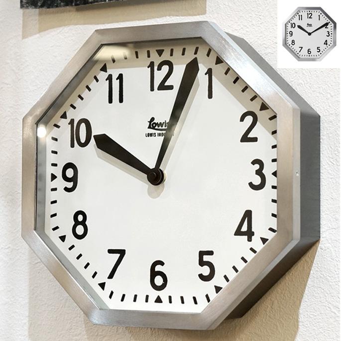 【P10倍】Lowis Industry Octagon Clock(ルイスインダストリーオクタゴンクロック)掛け時計