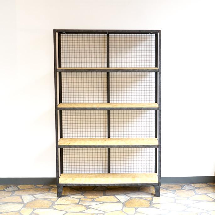 素材そのものを活かし匠ならではのハンドペィンティグを施した収納シェルフ!Malaga high shelf (マラガハイシェルフ) BIMAKES(ビメイクス) 送料無料