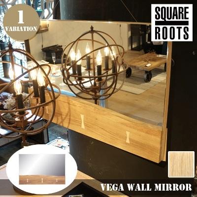 ベガ ウォールミラー ローオーク(VEGA WALL MIRROR RAW OAK) スクエアルーツ(SQUARE ROOTS) 122779 送料無料