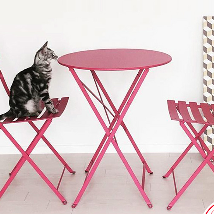 Bistro(ビストロ) Round Table 60(ラウンドテーブル60) ガーデンテーブル Fermob(フェルモブ) オプションカラー11色 送料無料 デザインインテリア