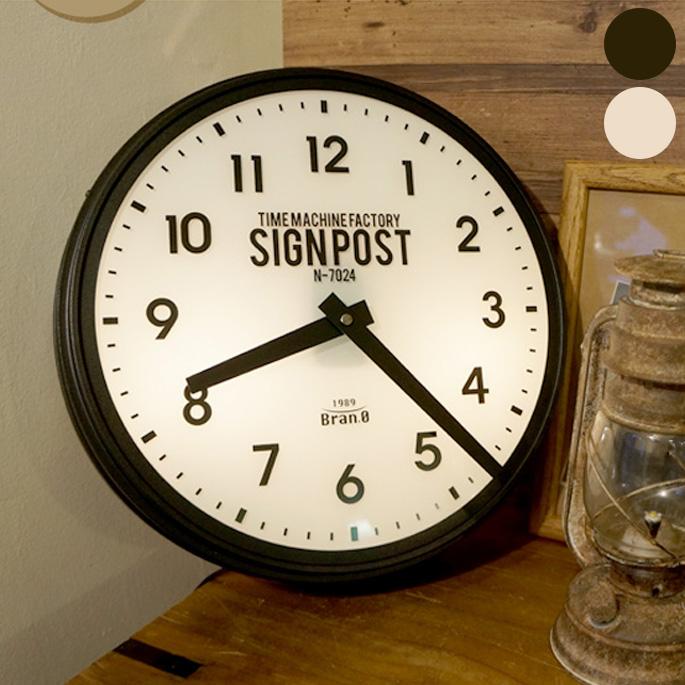 セヴノークス 掛け時計 Sevenoaks Wall Clock インターフォルム INTERFORM CL-2139 アイボリー ブラック スチール ガラス 34×10cm ステップムーブメント 間接照明 サンドペイント ザラザラ カフェ バー シンプル アメリカン 北欧モダン アンティーク調
