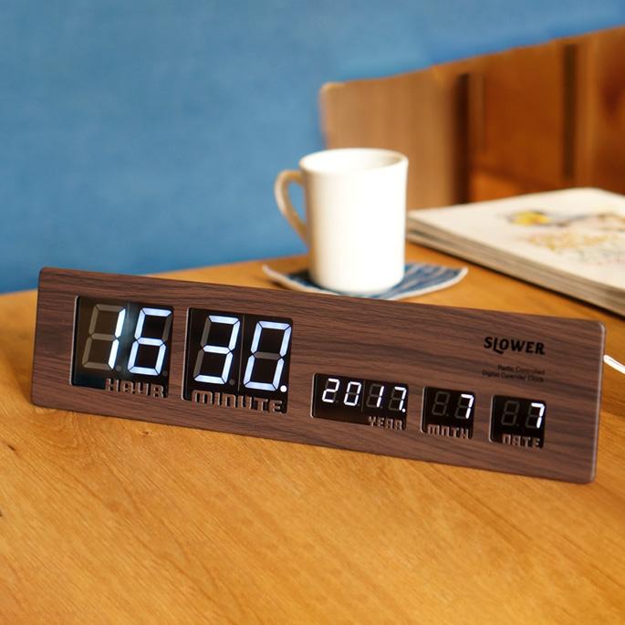 LED CLOCK Ascari(LEDクロック アスカリ) デジタルクロック 掛け時計・置時計 カラー(ブラック・ゴールド・ウッド) 送料無料