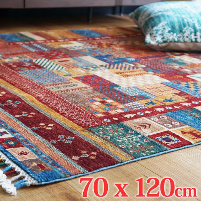 アフガニスタン手織緞通 AF-D4-RUG 70x120cm