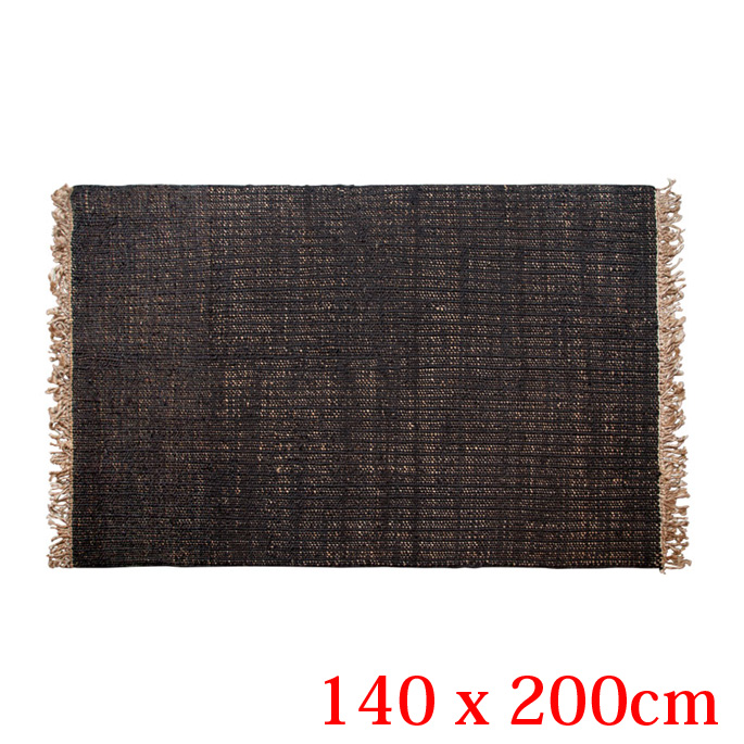 JUTE RUG-PLAIN- Living 140×200cm(ジュートラグプレイン リビング 140×200cm) amabro(アマブロ) 2カラー(Black/Natural)