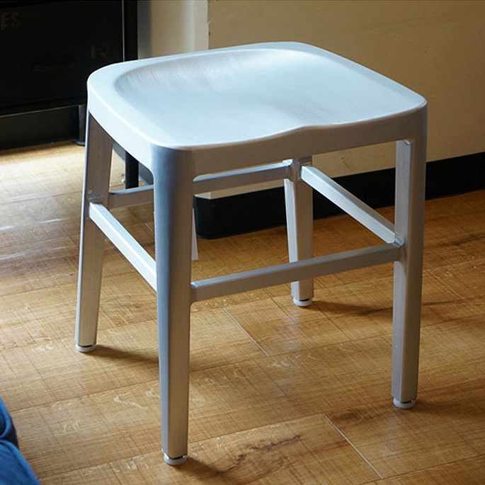 【送料無料】スツール 座高45cm アルミスツール ALUMI STOOL 腰かけ 椅子 ワークチェア オフィスチェア 軽量 ウエルカムチェア リビング ダイニング モダン デザイン インダストリアル アーミースツール
