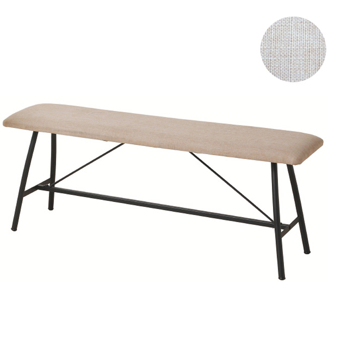 【送料無料】 リビングダイニングベンチ 104×30.5×44cm アンセム ベンチ anthem Bench ANC-2834BE 食卓用ベンチ 背もたれ無しベンチ 座高44cm シートハイ LDコーディネート リビング ダイニング カフェスタイル ポリエステル