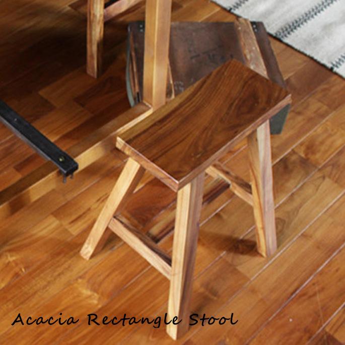 アカシアレクタングルスツール acacia rectangle stool ACW-RTS-001 アデペシュ a depeche ダイニング用スツール 椅子 子ども 天然木 ラッカー 食卓用ベンチ コンパクト ミッドセンチュリー アメリカン 北欧 ビンテージ アンティーク
