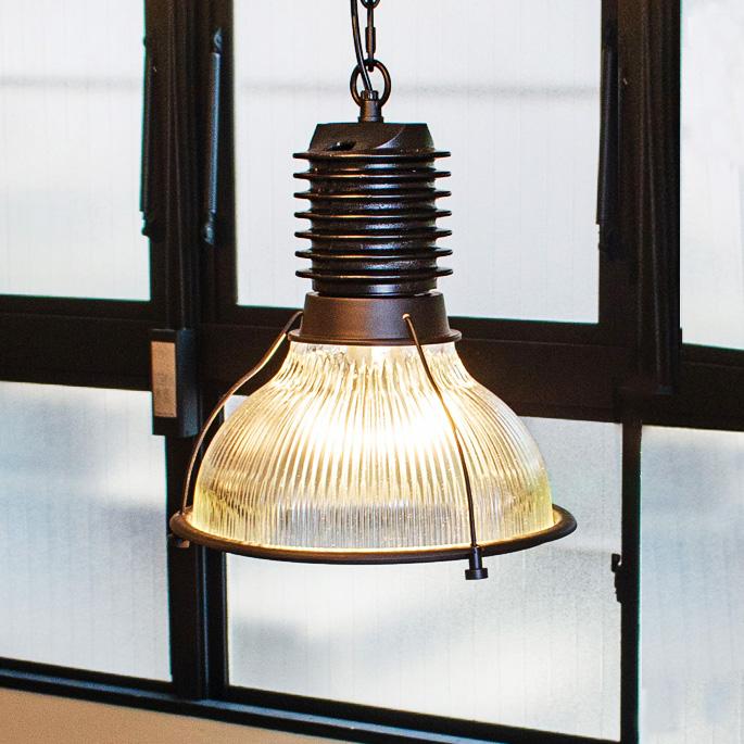バイロンガラスシェード BYRON GLASS SHADE ハモサ HERMOSA CMG-003 ペンダントライト 天井照明 1灯 ペンダントライト ガラス ペンダントランプ シェード ブラック LED対応 チェーン調整可 E-26 100W HUNT LAMP インダストリアル 無骨