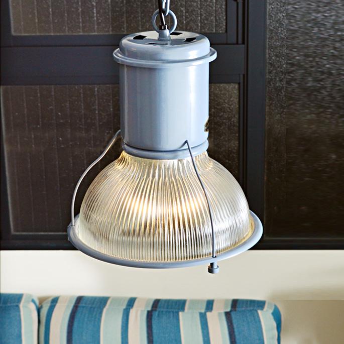 ハントガラスシェード HUNT GLASS SHADE ハモサ HERMOSA CMG-002 ペンダントライト 天井照明 1灯 ペンダントライト ガラス ペンダントランプ シェード ブルー 水色 ヴィンテージグレー LED対応 チェーン調整可 E-26 100W HUNT LAMP インダストリアル 無骨