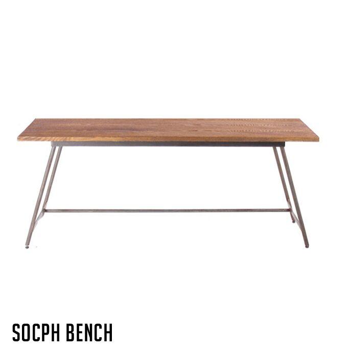 アデペシュ a.depeche アッシュ材 チェア 木製家具 スチール ソコフ ベンチ socph bench SCP-BBC-001 西海岸 アメリカンビンテージ 送料無料
