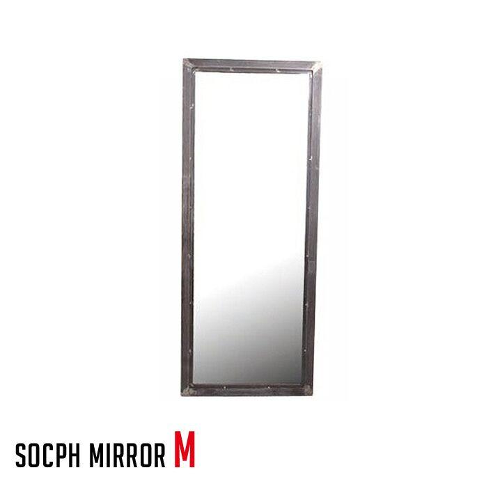 アデペシュ a.depeche 鏡 スチール ソコフ ミラー socph mirror M SCP-MRO-M 西海岸 アメリカンビンテージ 送料無料