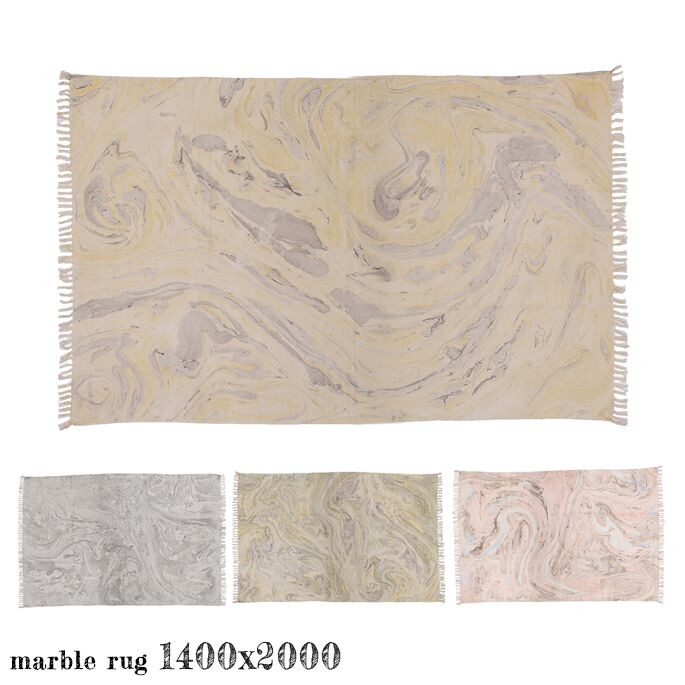 マーブルラグ 1400 marble rug 140x200cm ア デペシュ a depeche MBR-LMO-1400 MBR-SKR-1400 MBR-CLG-1400 MBR-FRS-1400 ラグ lemon skyrose cloudgray forest ファブリック 絨毯 じゅうたん マット マーブル柄 ハンドメイド ナチュラル おしゃれ
