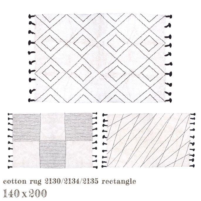 コットンラグ タッセル レクタングル 140x200cm cotton rug tassel rectangle ア デペシュ a depeche CTR-2134-1400 CTR-2130-1400 CTR-2135-1400 ラグ 1400 カーペット 絨毯 マット モダン モノトーン シンプル 北欧 ナチュラル