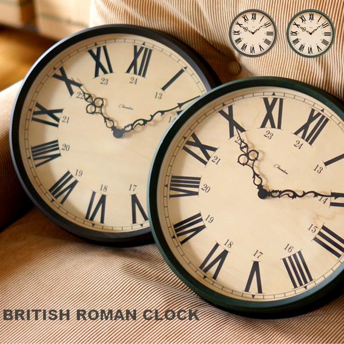 インターゼロ INTERZERO ブリティッシュロマンクロック BRITISH ROMAN CLOCK CH-036 壁掛け時計 幅30.6cm ウォールクロック 時計 かけ時計 ヴィンテージ レトロ ヨーロッパ イギリス おしゃれ ギフト 新築祝い 日本製
